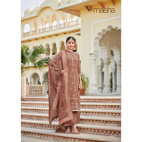 Siya Fashion Cream Color Daily Wear Embroidered Work Salwar Suit