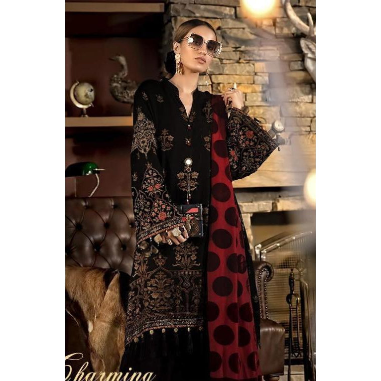 Siya Fashion Attractive Black Color Pure Cotton Pakistani Salwar Suit