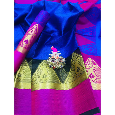 Siya Fashion Soft Linen Silk Sarees In Yellow Color