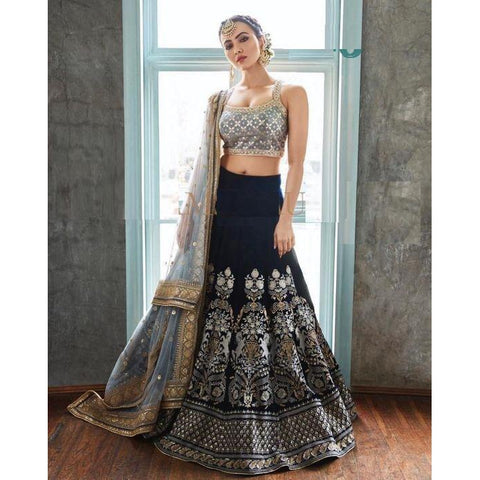 Siya Fashion Shraddha Kapoor Green Color Designer Party Wear Lehenga Choli