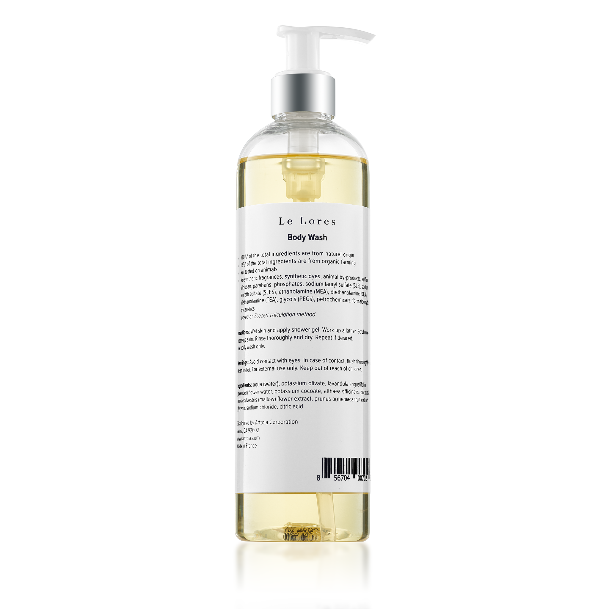 Organic French Olive & Coconut Oil Body Wash