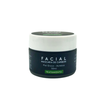 Mascarilla Facial con Carbón Activo - Antiacnéica - 50ml