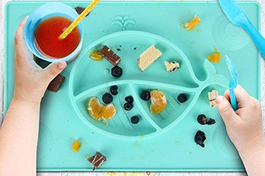 Silicone Placemat With Suction Plates that Stick