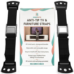 Anti Tip Furniture Kit & TV Safety Straps