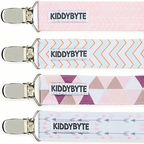 Baby Pacifier Clip Holder for Girl - 4 Pack