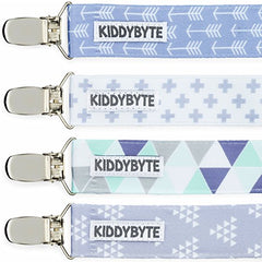 Baby Pacifier Clip Holder for Boy - 4 Pack