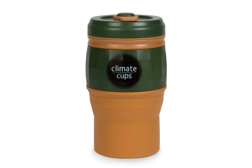 Army Green Cup 520ML - Climate Cups - Collapsible Reusable Cups