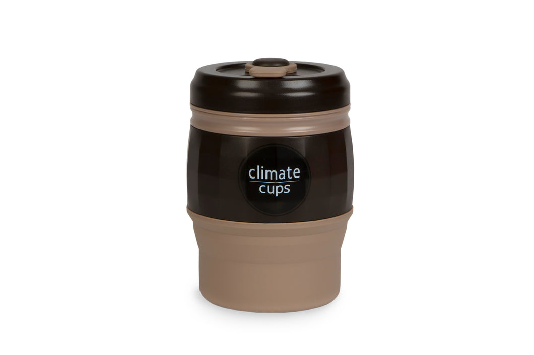 Dark Coffee Cup 380ML - Climate Cups - Collapsible Reusable Cups