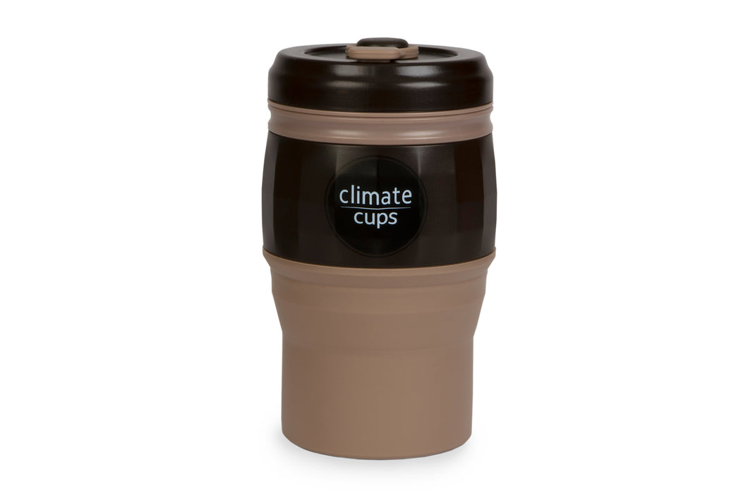 Dark Coffee Cup 520ML - Climate Cups - Collapsible Reusable Cups