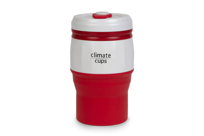 Red Coffee Cup 520ML - Climate Cups - Collapsible Reusable Cups
