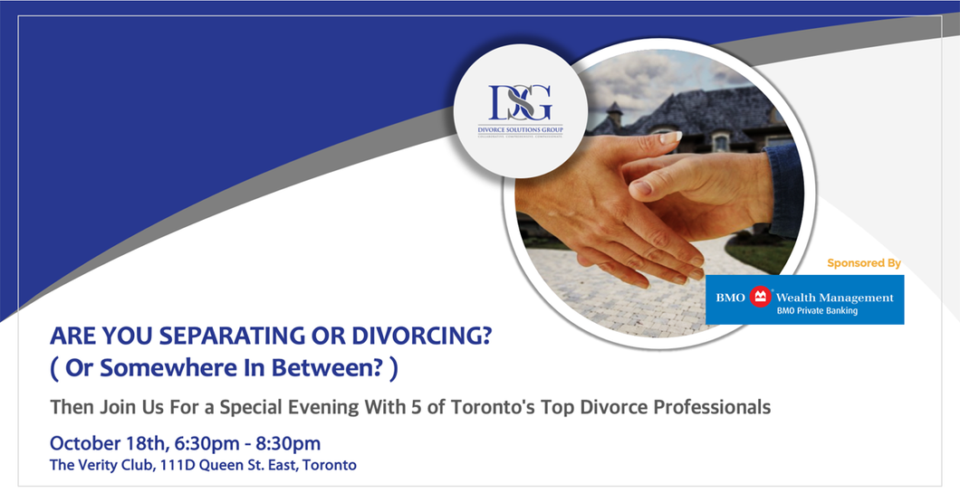 A Evening with 5 of Toronto's Top Divorce Professionals