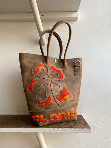 Hibiscus Applique Tote Bag