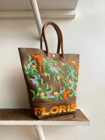 Green Flame Tote Bag