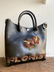 Hibiscus Handled Bag