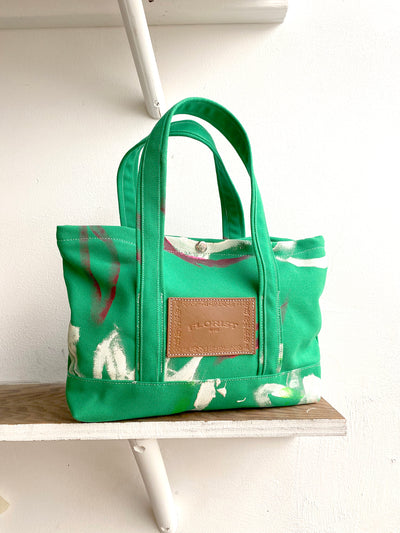 Mini Canvas Tote ~ Grass