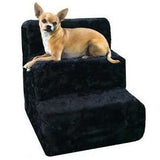 Plush pet steps in black
