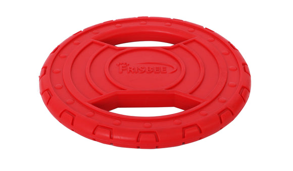 Frisbee dog toy in red