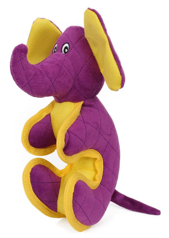 Purple elephant dog toy