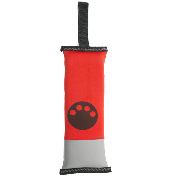 Tug-n-pull dog toy in red
