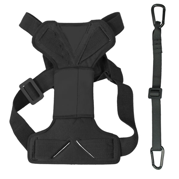 Dog seatbelt harness in black