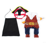 3 piece pirate pet costume
