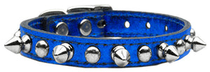 Metallic Leather Chaser Dog Collars