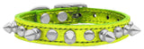 Metallic lime chaser collar