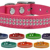 Double Strand Crystal Leather Collars