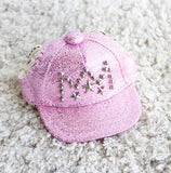 Dog Bling Cap in pink