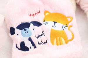 Fluffy fleece pet sweater in assorted colors