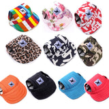 10 dog hats in assorted colors