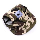 Dog baseball cap in army camouflage design