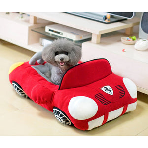 Black sports car pet bed