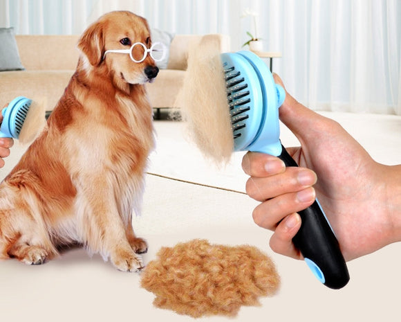 Self-Cleaning De-Shedding Pet Brush