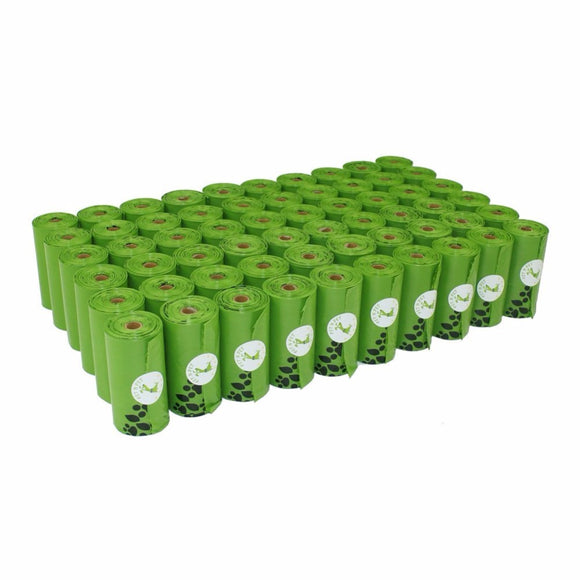 60 Rolls Earth-Friendly Dog Waste Bags (Green)