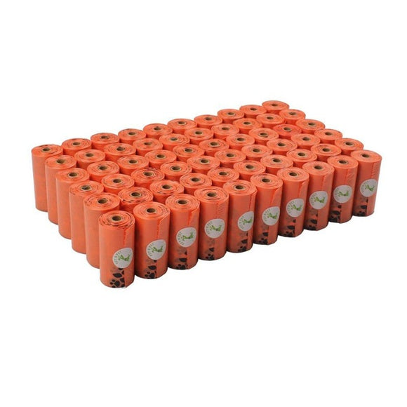 60 Rolls Earth-Friendly Dog Waste Bags (Orange)
