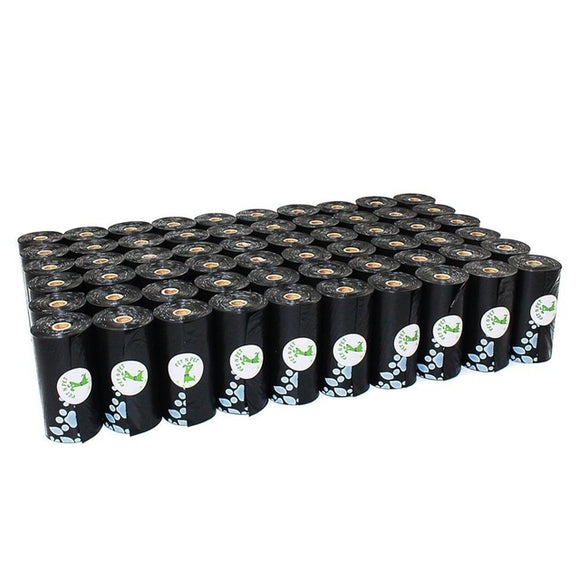 60 Rolls Earth-Friendly Dog Waste Bags (Black)