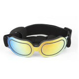 Rimless dog sunglasses in yellow