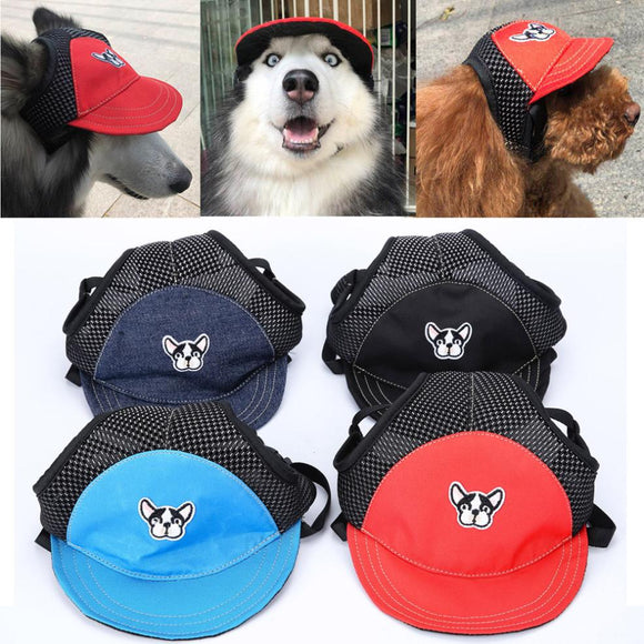 Dog baseball caps in assorted colors