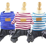 Dog loungewear jumpers in assorted colors