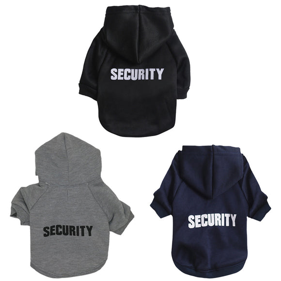 Security dog hoodie in assorted colors