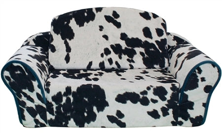 Cow print dog sofa