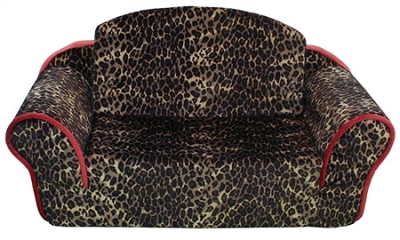 Leopard print dog sofa