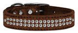 Bronze dog collar with crystals