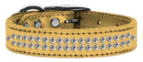 Gold dog collar with crystals