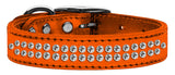 Metallic orange dog collar with crystals