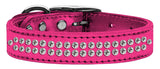 Metallic pink dog collar with crystals
