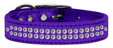 Metallic purple dog collar with crystals