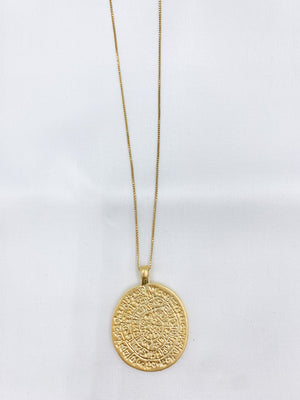Greek Medallion Necklace
