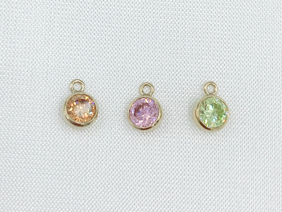 Mother's Day Silver and Gold Bezel Drops - Add ins